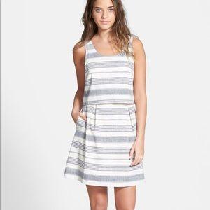 Gently worn, Madewell Stripe Overlay Dress